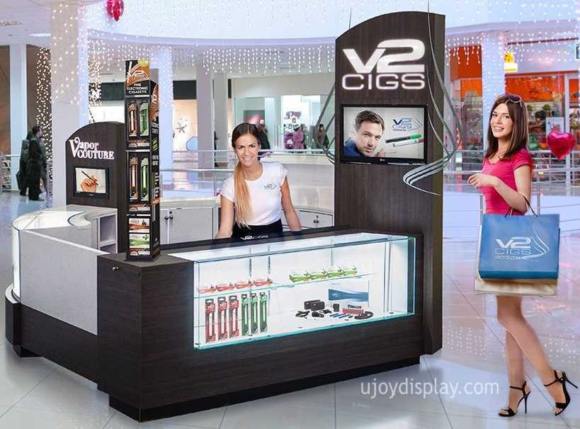 E-Cigarette mall kiosk business-ujoydisplay