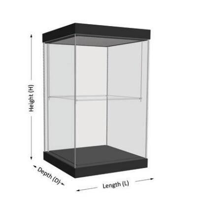freestanding display cases UDF-01A ujoydisplay