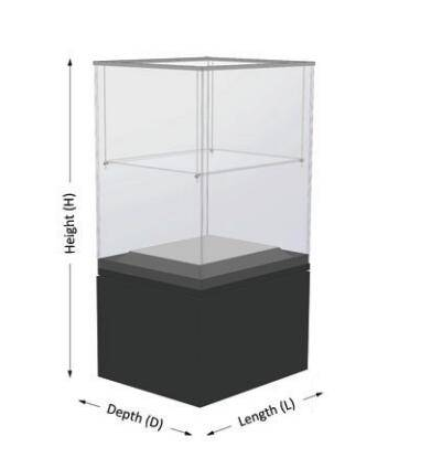 freestanding display cases UDF-02A ujoydisplay