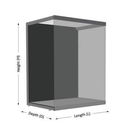 freestanding display cases UDF-04A ujoydisplay