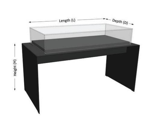 Museum Table top display case UDT-03A UJOY DISPLAY