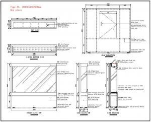 Technical drawings of museum display case_ujoydisplay